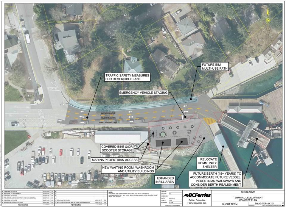 Snug Cove Terminal Development Plan from BC Ferries Jan. 2021