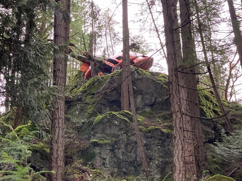 Helecopter on Mt. Gardner
