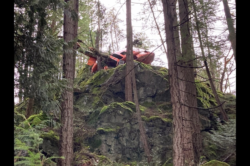 This helicopter crashed on the west side of Mount Gardner Friday morning.