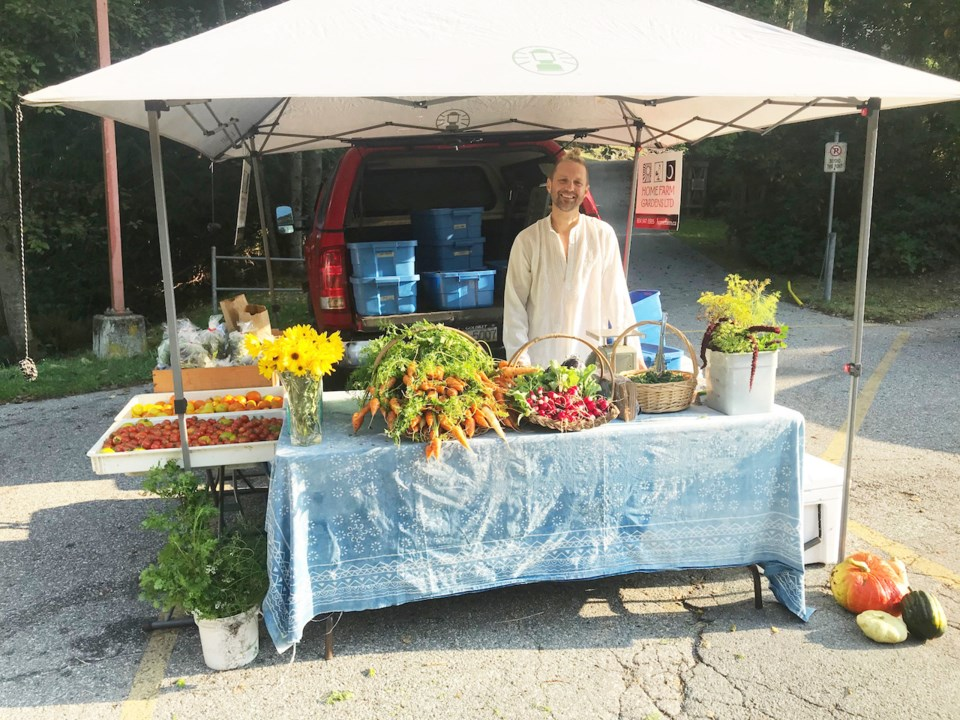 Farmers' Market - Jared from Home Farm - Sarah Haxby