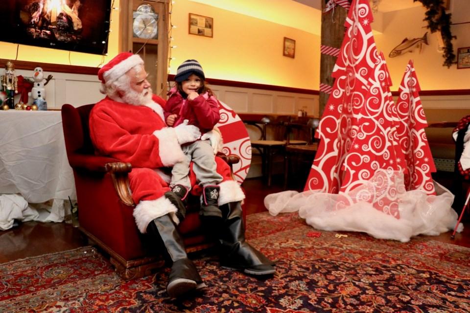 Frankie sitting on Santa's lap