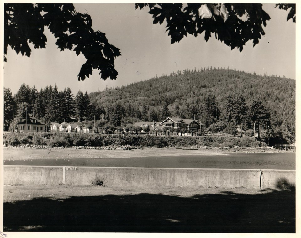 The steamships property in Deep Bay circa. 1930 - shot from across the bay
