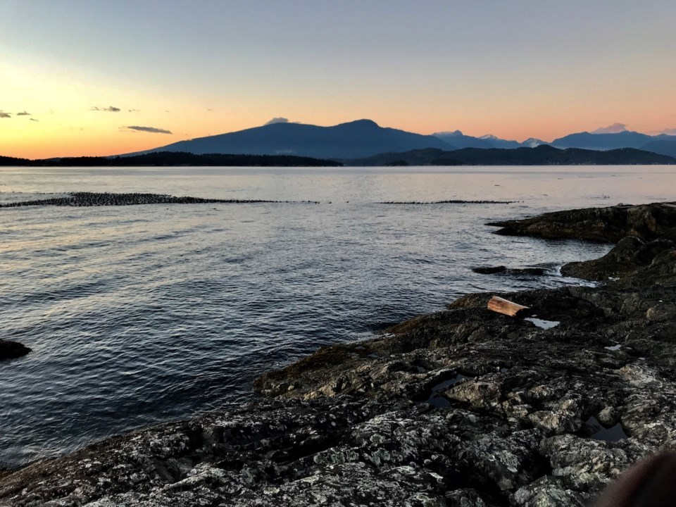 Sunset on the West side of Bowen Island