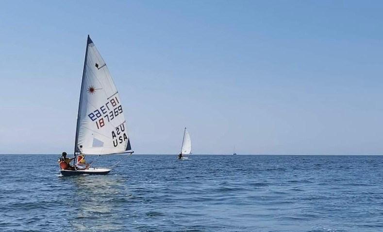BIYC sailboats on sea