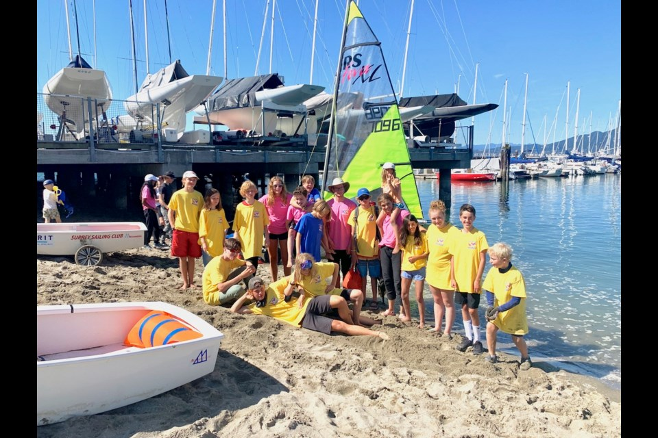 The Learn2Sail crew at the end of the Commodore's Cup Regatta Sept. 2.