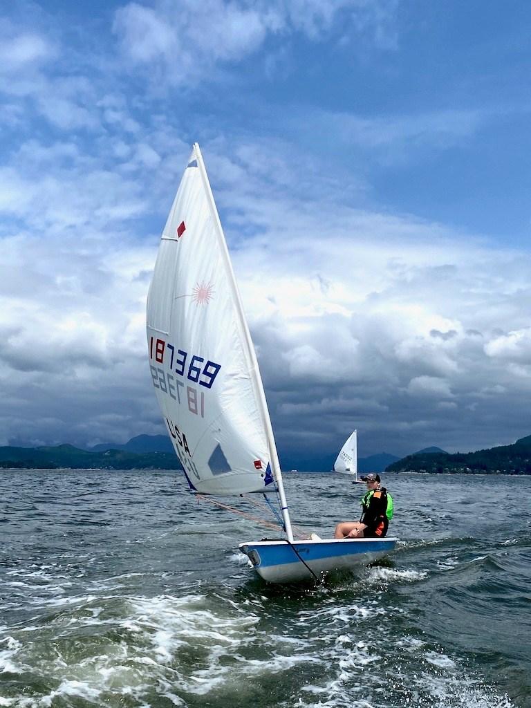Sailor on BIYC sailboat