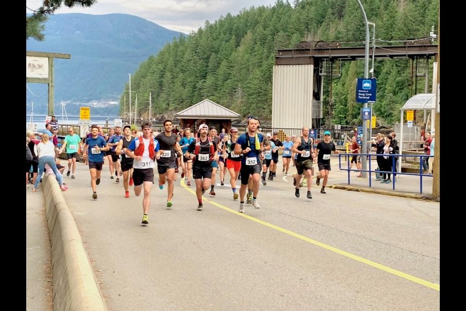 The 8th Annual Handloggers Half Marathon gets off to a fast start.