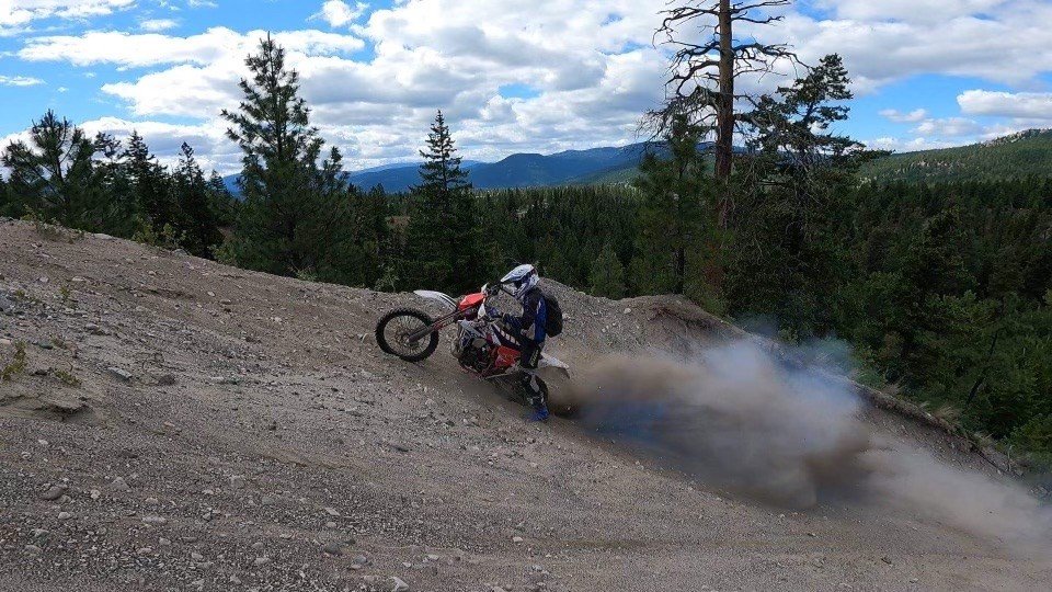Kevan Bernards is competing in the August Red Bull Outliers Hard Enduro, veterans division, August 2021.