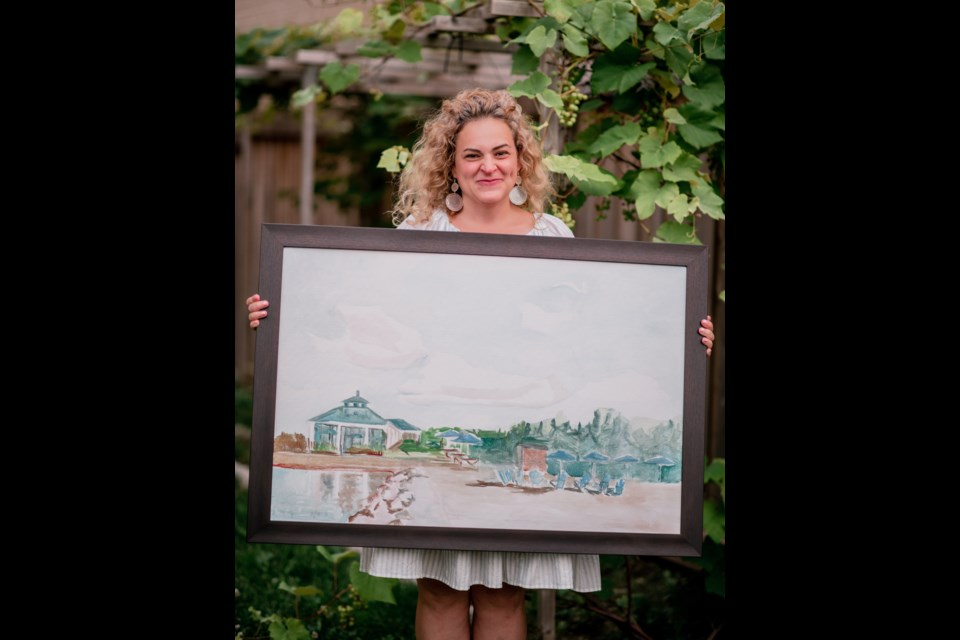Innisfil artist Maria Kelebeev has been selling a variety of art pieces depicting local scenes such as the Innisfil Beach park and Friday Harbour, while donating a portion of the proceeds to local charities.
