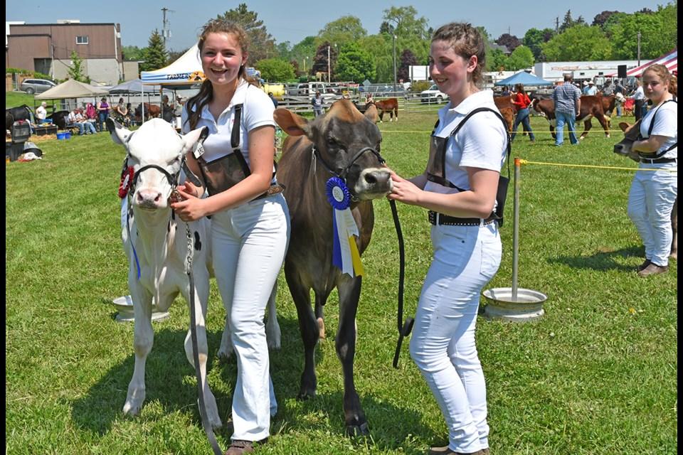 Champion Dairy Showperson at the 2018 Schomberg Fair was Emi Lange, at left. Brooklyn Lloyd won Reserve. Miriam King/Bradford Today