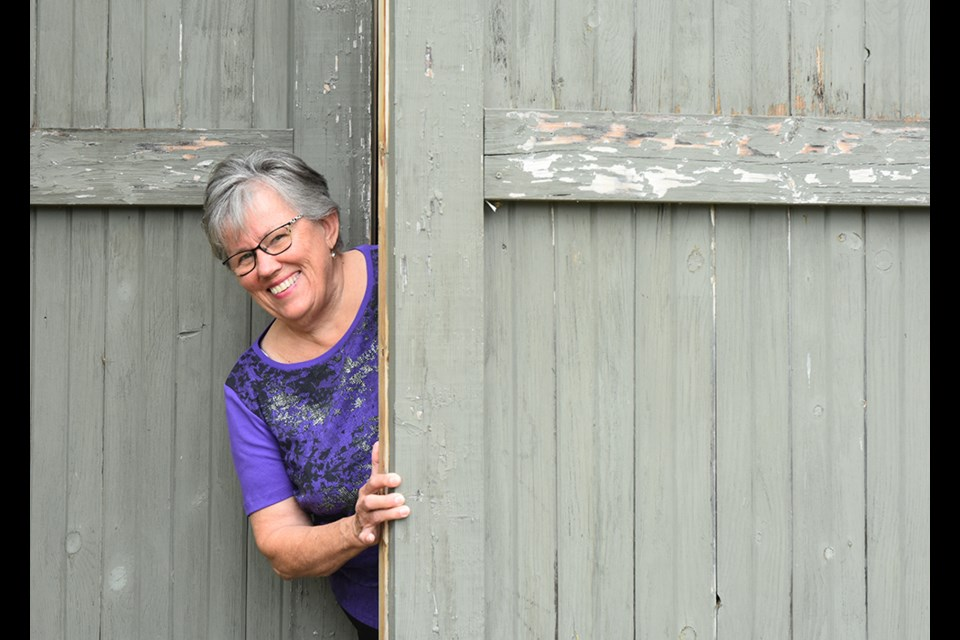 Stella Wadsworth is getting the barn ready for this year's Art in the Barn stop on the studio tour. Miriam King/Bradford Today