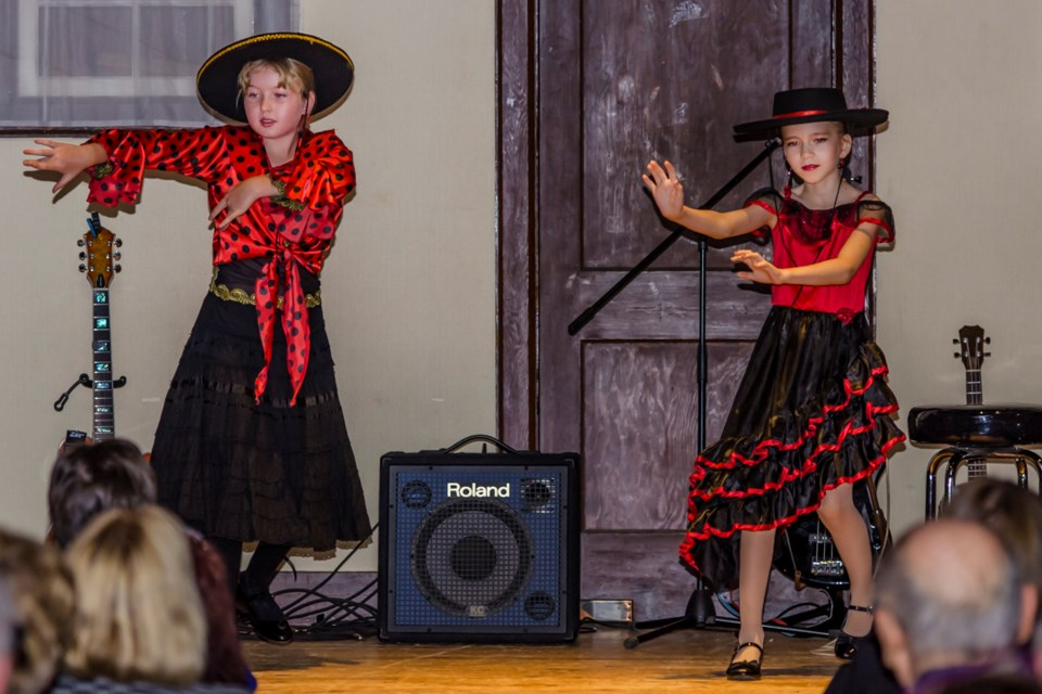 Layla Waller and Ksenya Logvin performed a flamenco dance during the Tec We Gwill Women's Institute Talent Concert at the Tec We Gwill W.I. Hall in Bradford. Dave Kramer for BradfordToday.