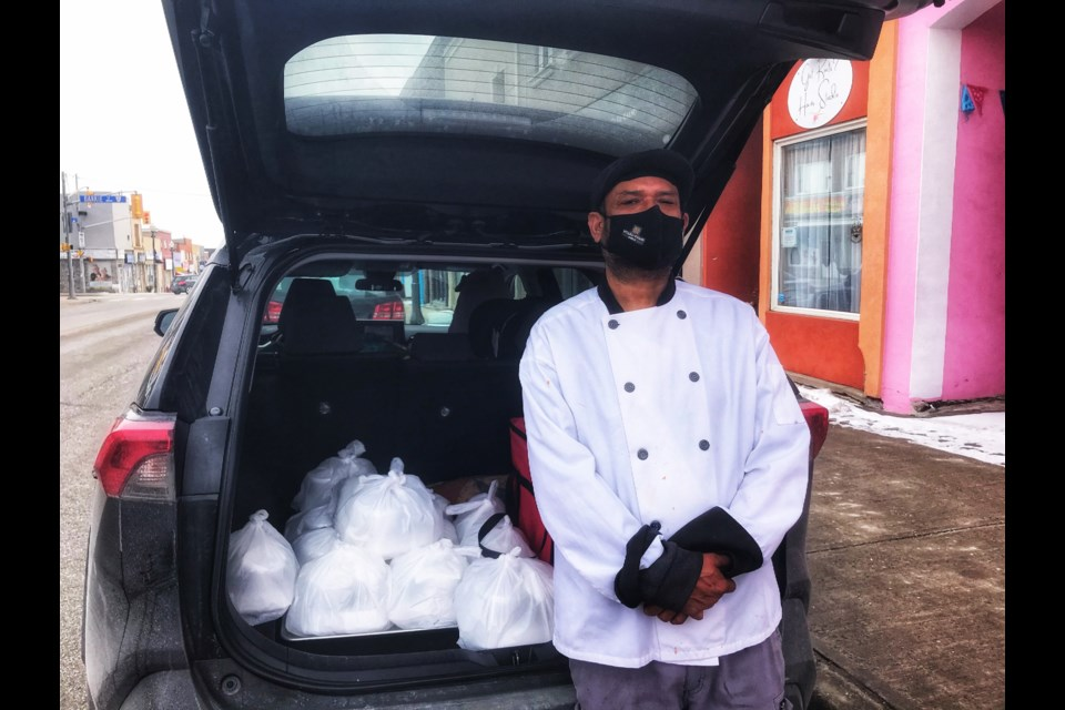 Balwant Rathour, owner of Uttara Khand Indian restaurant is a proud sponsor of the Out of the Cold Cafe in Bradford and donated 20 free hot meals every week to those in need at the cafe.