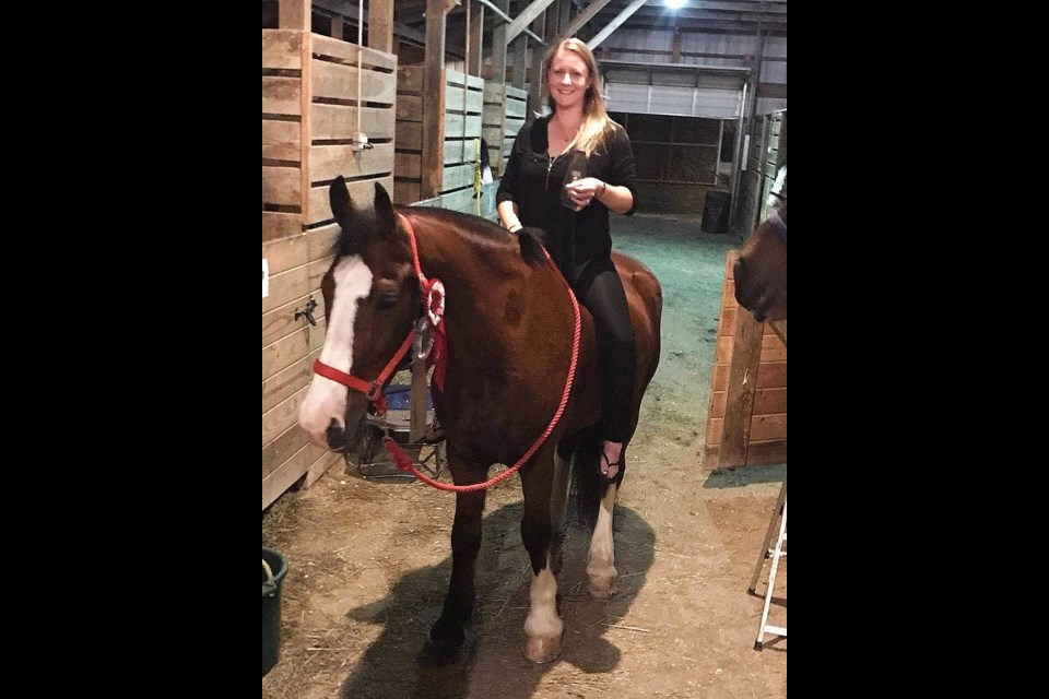Auxiliary Officer & Acting Sergeant Jacqueline Papel has been riding horses for 27 years and was instrumental in starting the South Simcoe Police Ceremonial Mounted Unit (Horseback).