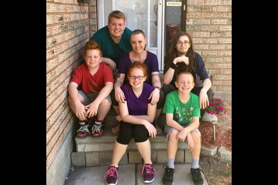 Byrnn Clark (middle) with her 5 children participate in many Walk-for-Lupus Events and strive to bring the word Lupus to the lips and ears of everyone.