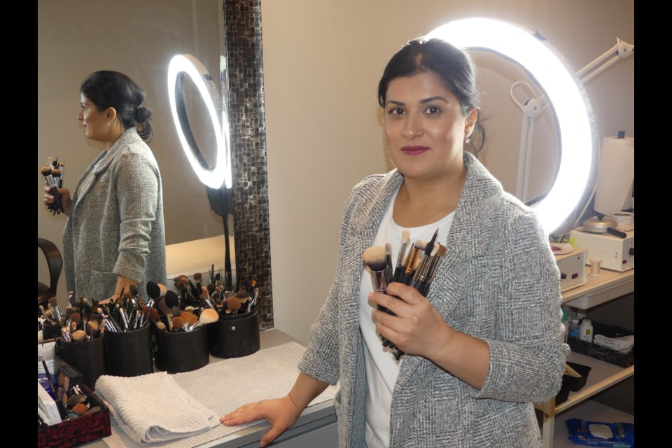 Sumayya Khan at her Bradford West Gwillimbury studio. Jenni Dunning/BradfordToday