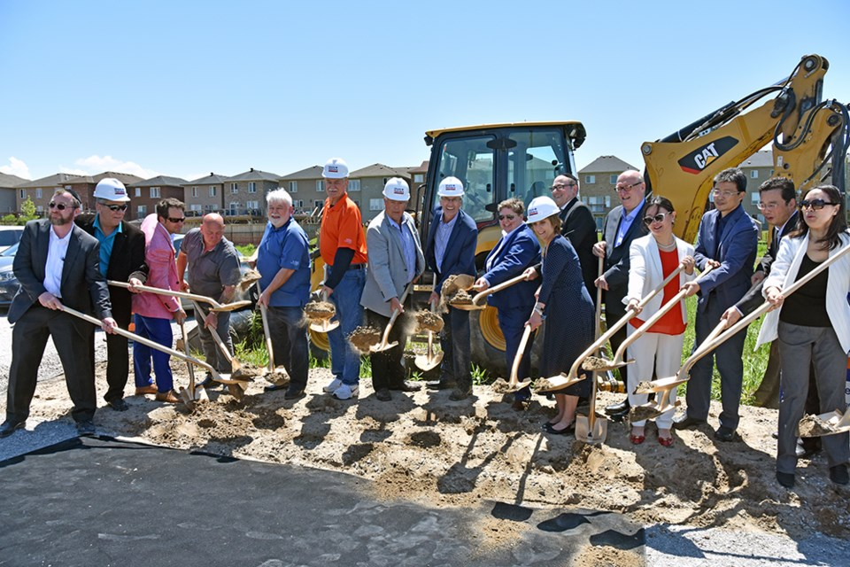 Business partners, investors and Council members at the official sod turning for The Middleton. Miriam King/Bradford Today
