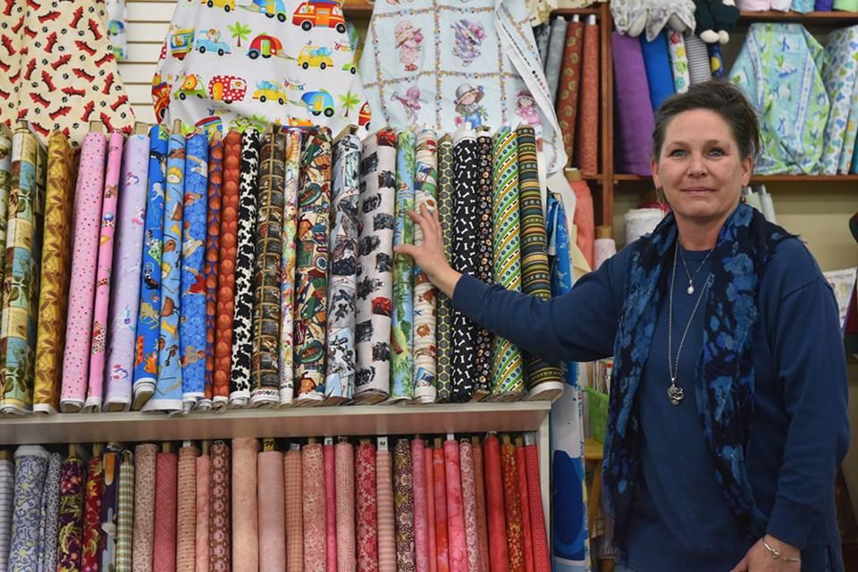 Collette Alblas, at work at F.K. Textiles in Bradford. Miriam King/Bradford Today
