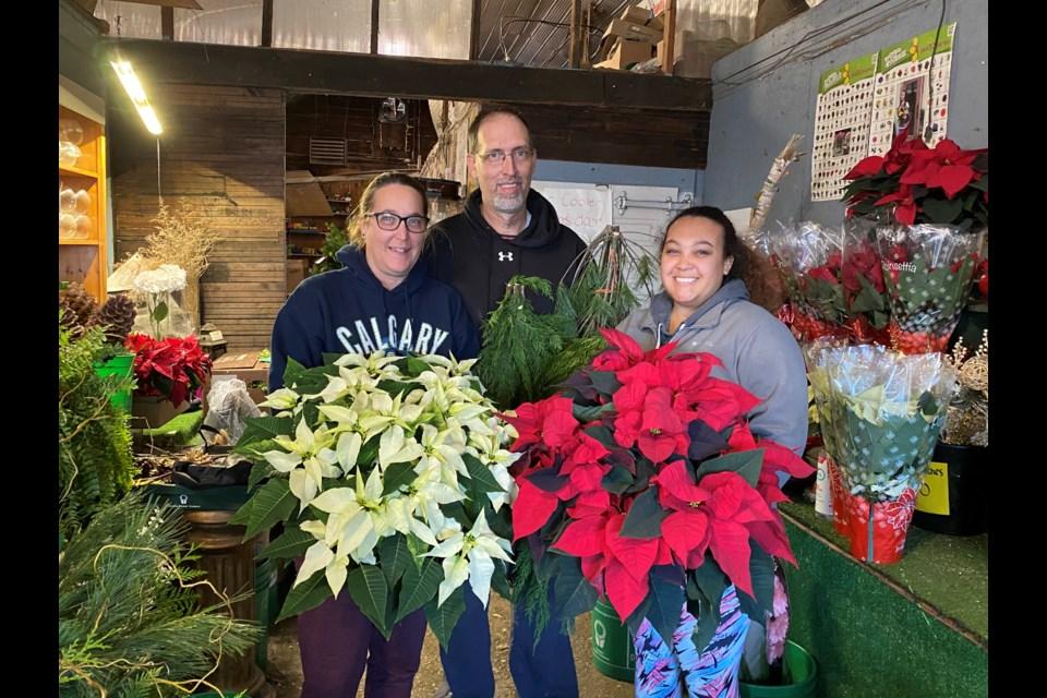 Kim and Dave Hanemaayer and daughter Teresa Aukema run the family-owned floral business. Natasha Philpott/BradfordToday