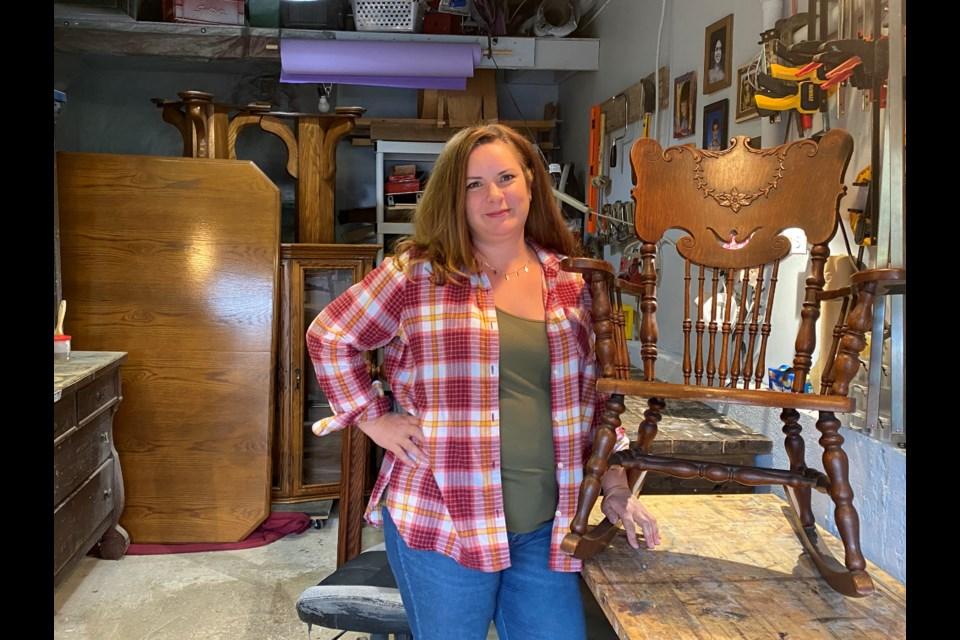 Lorraine Schmidt, the owner of Hidden Beauty Vintage Furniture Restoration. Natasha Philpott/BradfordToday