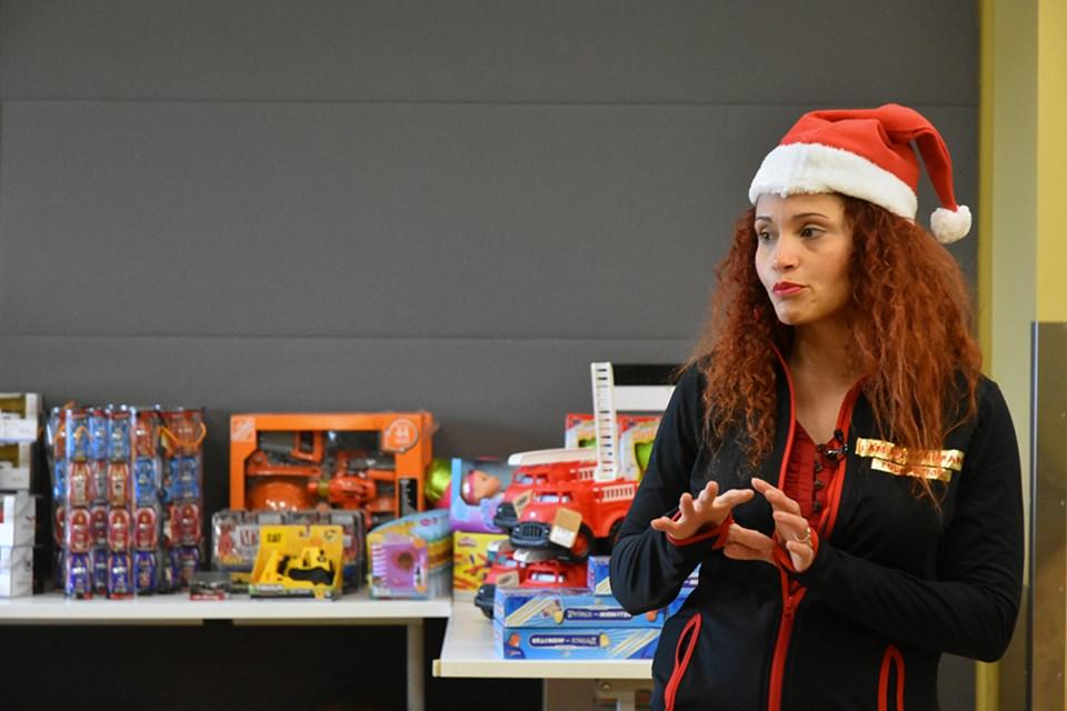 Maria Carolina Ojeda launched I'm an Immigrant's Christmas giveaway in Bradford Dec. 16. Miriam King/Bradford Today