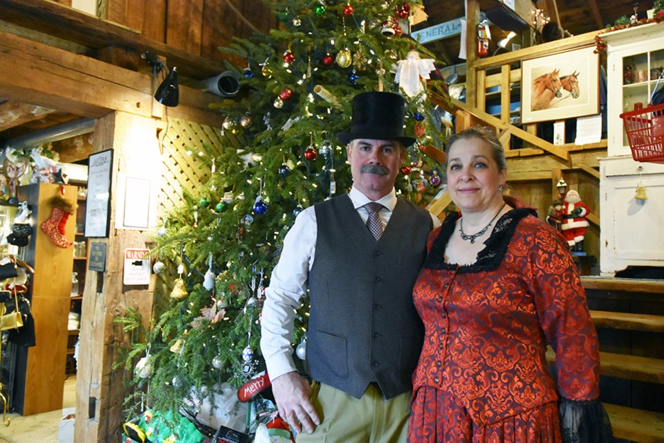 Bill and Diana Robinson, at the Cookstown Antique Market's Victorian Christmas last year - another fundraiser for three hospitals. Miriam King/Bradford Today