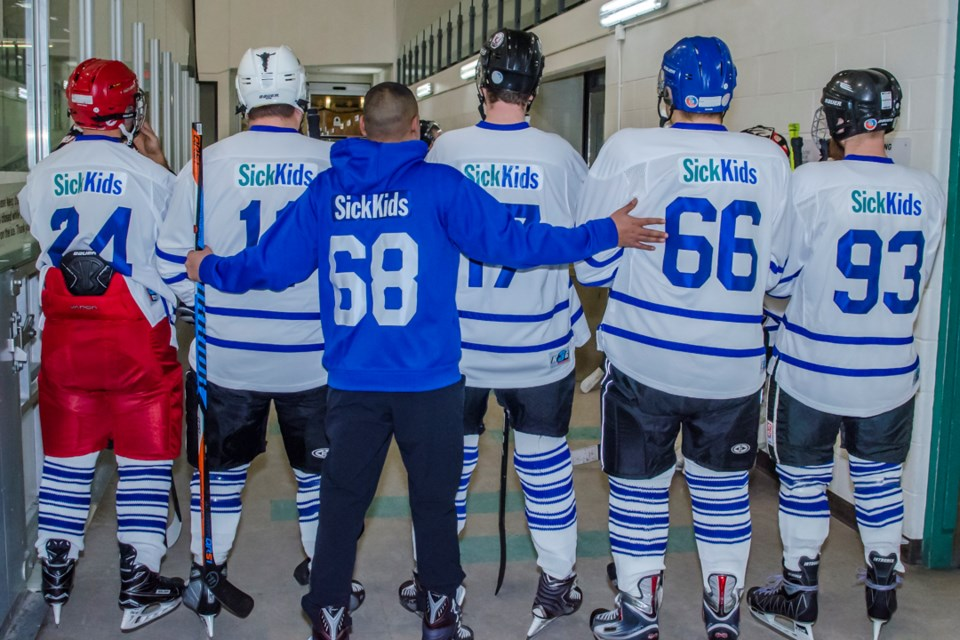 Hockey Night in Bradford put Sick Kids Hospitall in the win column with the 3rd annual Hockey for Sick Kids fundraiser, sponsored by Kash Toor of Bradford's Mortgage Partners Corporation. Dave Kramer for BradfordToday.