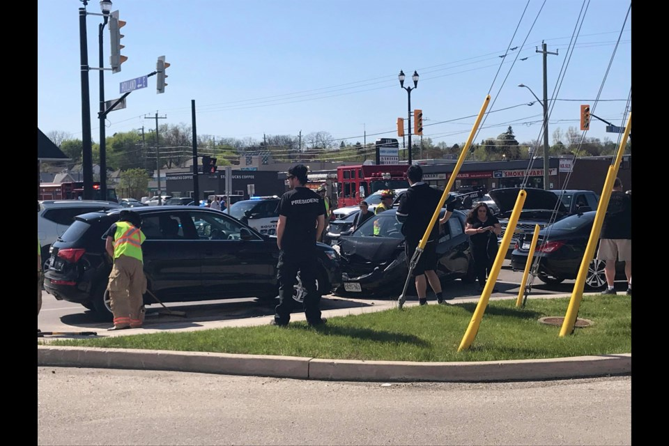 Accident at Holland Street and Dissette Street on May 22 at 4 p.m. Jackie Kozak for BradfordToday