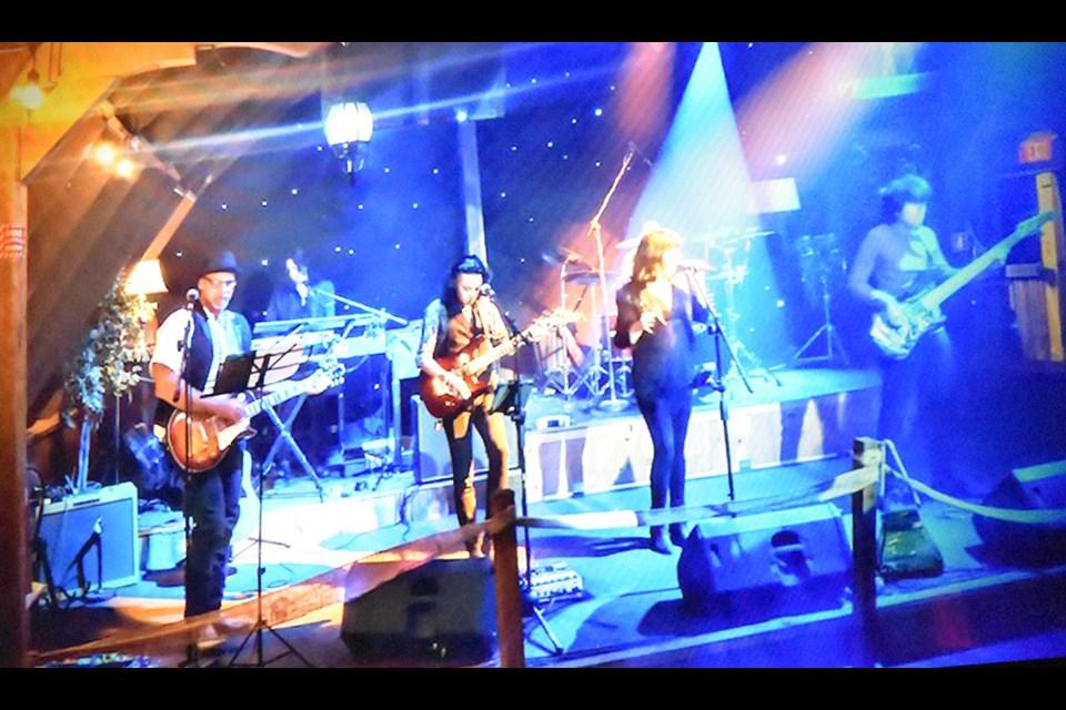 House band Stable Polarity rocks The Bradford Barn's stage. Miriam King/Bradford Today