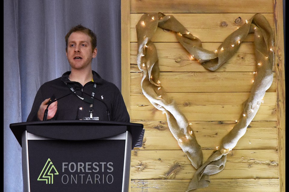 Stefan Weber spoke about the restoration of natural species - and the fight against Phragmites - at the Forests Ontario conference, held at the Nottawasaga Inn Resort. Miriam King/Bradford Today