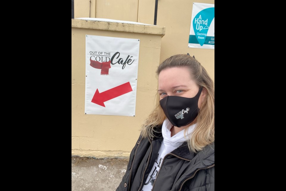 Erin Kiss is a Security Coordinator for York Region and also volunteers on the weekends at the Out of the Cold Cafe.