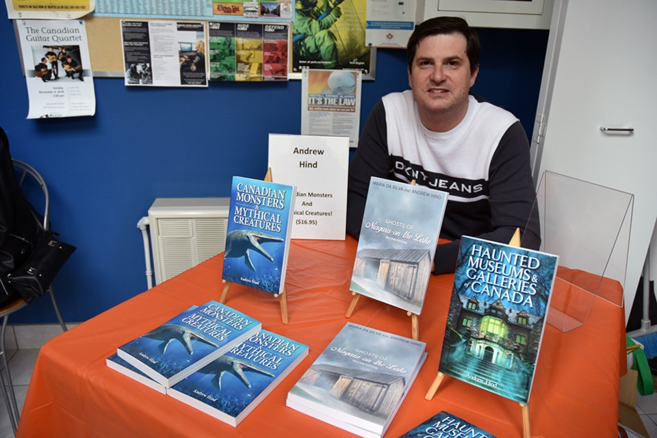 Bradford author Andrew Hind signs books at the Elman W. Campbell Museum in Newmarket, Oct. 27. Miriam King/BradfordToday