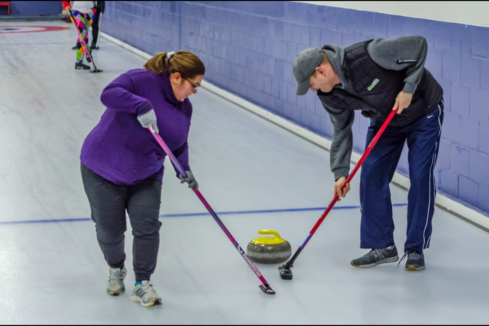 The Churches of Bradford came together at the Bradford Curling Club for a friendly Bonspiel and to raise money in support of the Bradford Community Meal. Dave Kramer for BradfordToday.