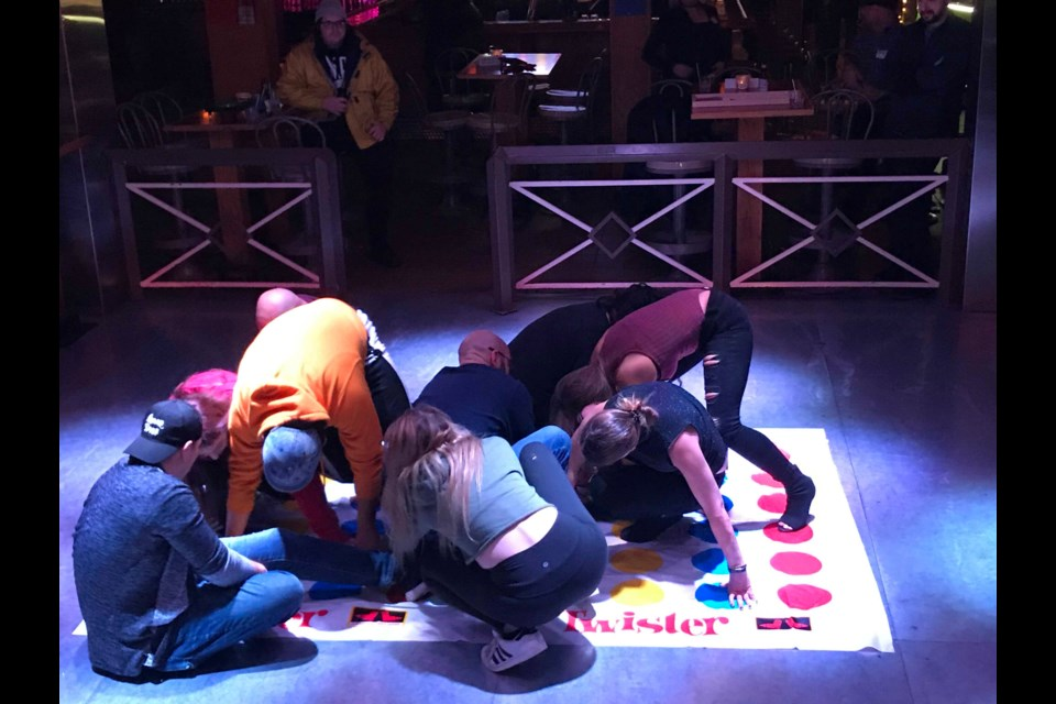Giant game of Twister. Submitted Photo.