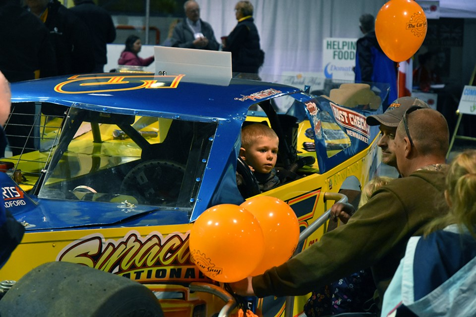 The Car Guy not only was the presenting sponsor of the BBT's Home and Lifestyle Show, the family-owned automotive repair company also brought its  race car to the event - one of the show's highlights. Miriam King/Bradford Today