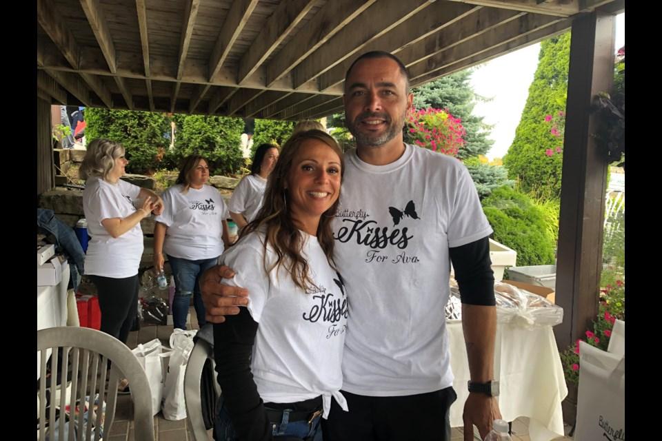 Ava's parents, Julie and Diago Nunes. Natasha Philpott/BradfordToday