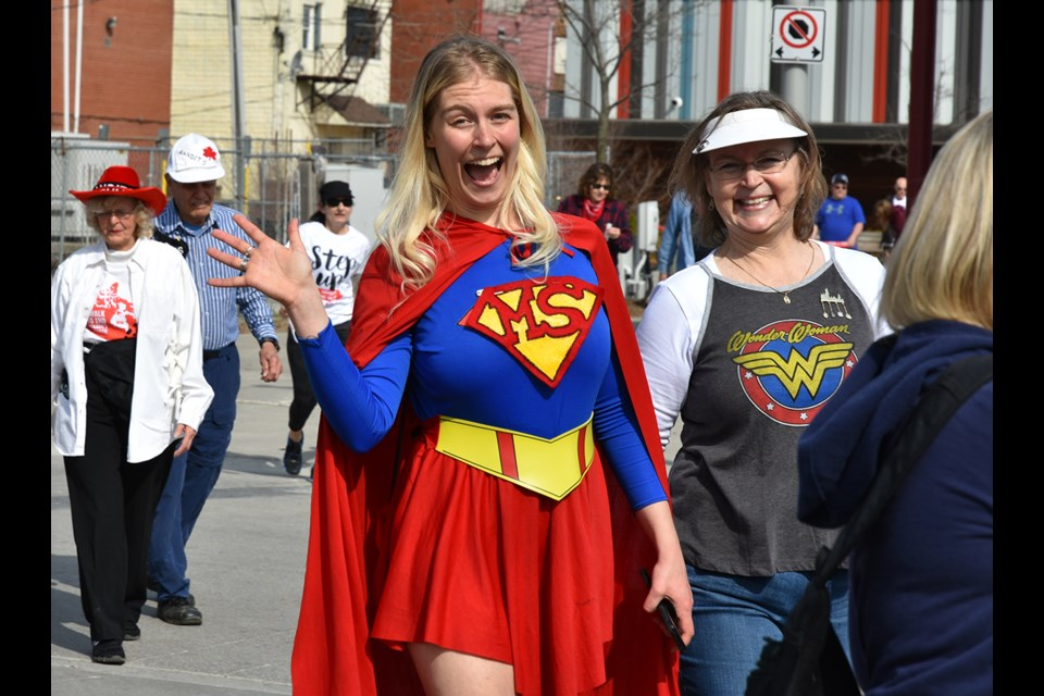 Participants get in a super spirit for the event. Miriam King/Bradford Today