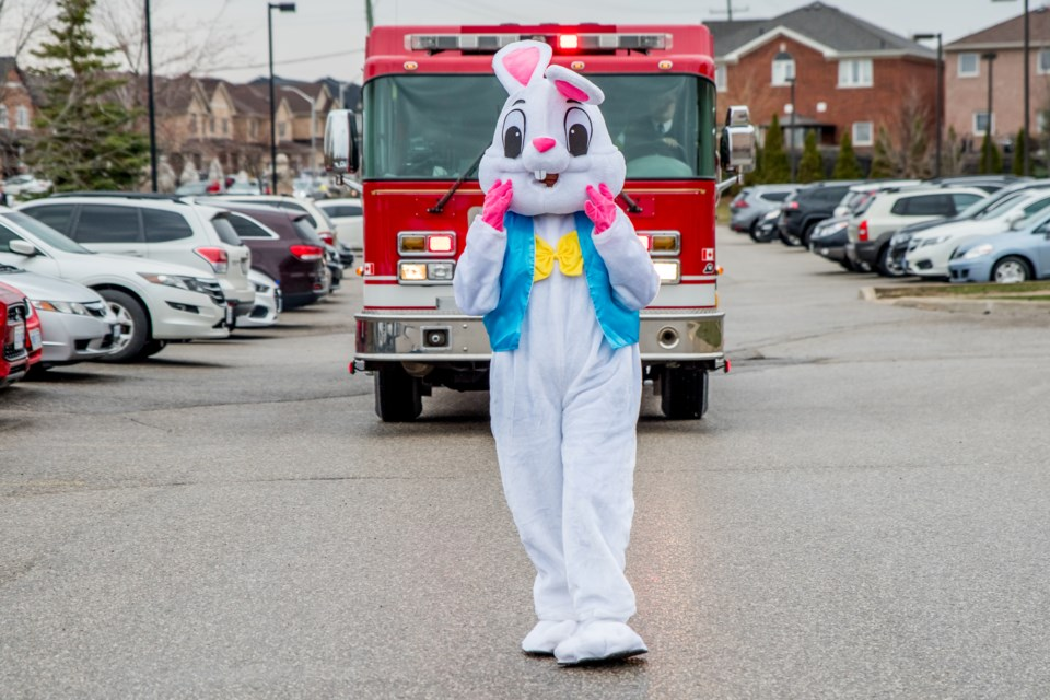 The Easter Bunny arrives at Bradford Valley Care Community. Paul Novosad for Bradford Today.