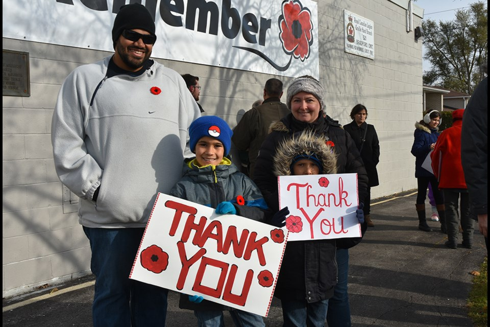 Generations together, to give thanks to those who have served, and those who gave their lives serving their country. Miriam King for BradfordToday