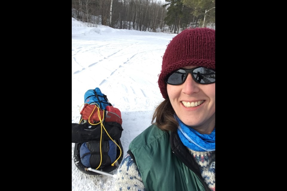Amy Stepanek participated in winter camping with the Bradford Scouts where she has been a volunteer with for 7 years.