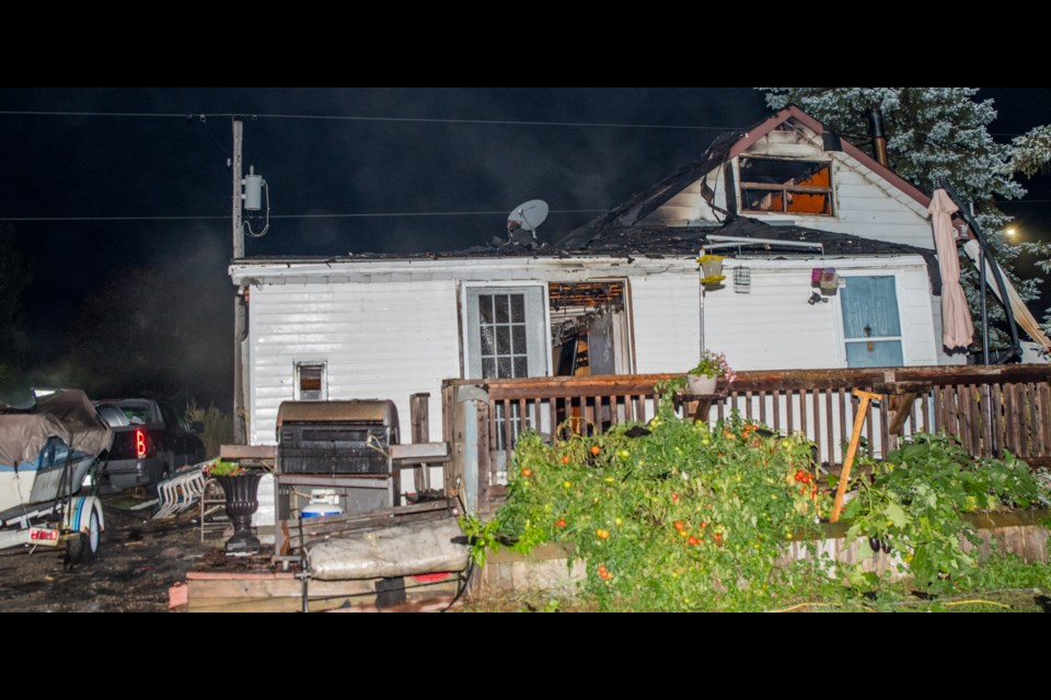 Overnight house fire on Line 11 in BWG. Paul Novosad for BradfordToday