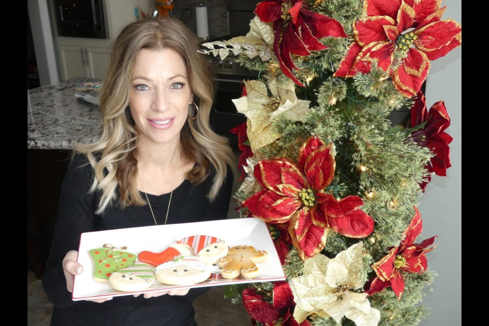 Cookie artist Mary Valentino shows off some cookies she baked and decorated. Jenni Dunning/BradfordToday