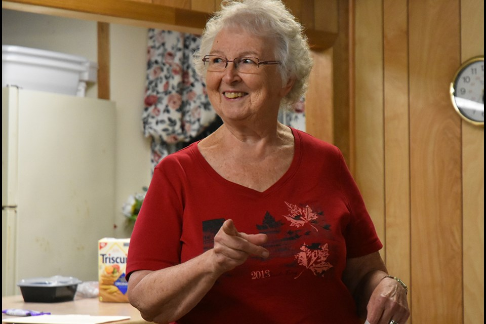 Gladys Fieldhouse, Tec-We-Gwill Women's Institute member, shared her knowledge at the Much to do About Chocolate workshop this week. Miriam King/Bradford Today