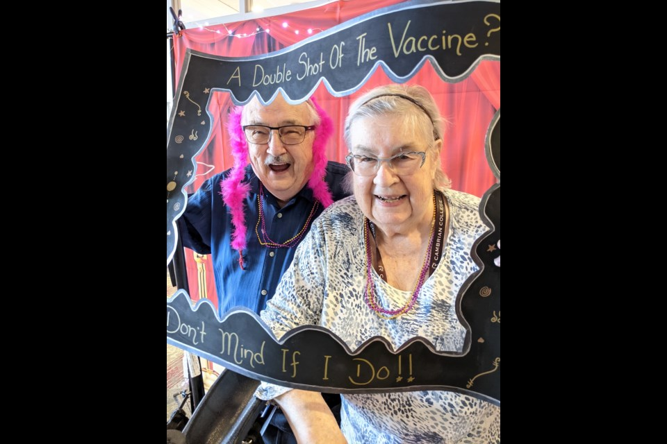 Residents of The Elden hosted a red carpet event to celebrate receiving their second COVID-19 vaccination dose on Feb. 23, 2021