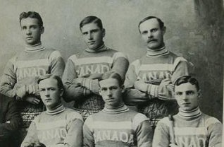 Canada's national lacrosse team in 1915. Photo courtesy of the Bradford West Gwillimbury Public Library Archives