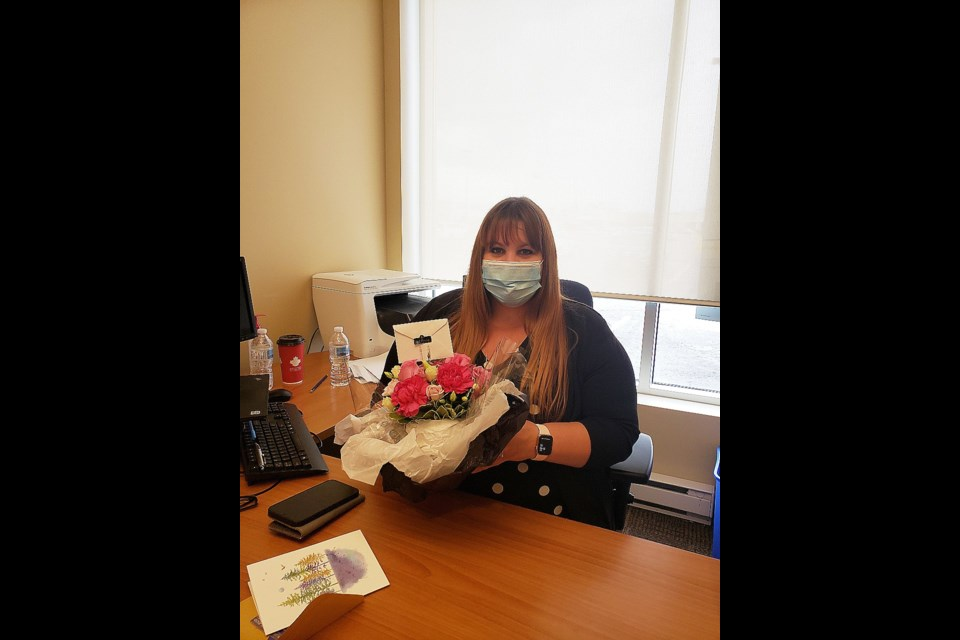 RBC Bradford Branch Manager Jamie Cleaver celebrated 20 years working with the Royal Bank of Canada, ironically the same week as her birthday.