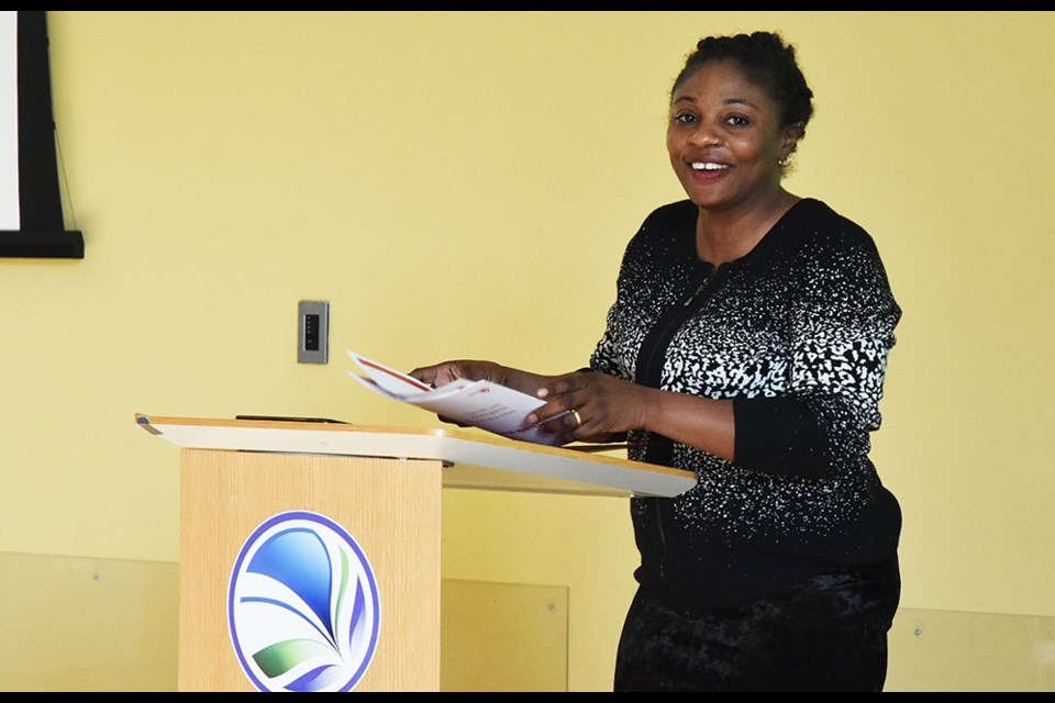 Valerie Kuye, women's health program co-ordinator with the ACYR, was guest speaker at the Bradford Women's Group meeting, for Pride Month. Miriam King/Bradford Today