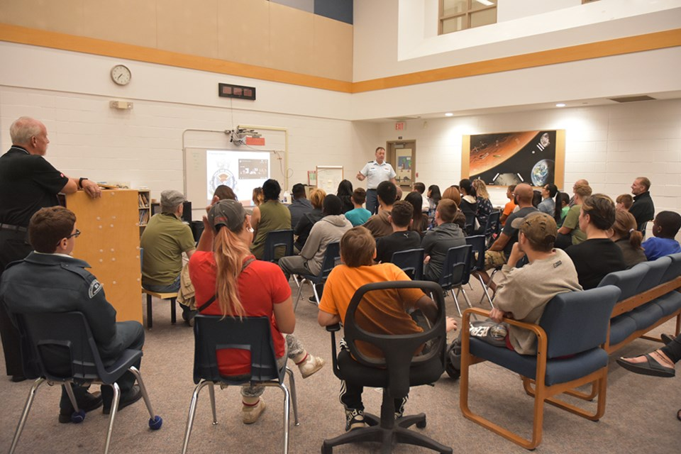Parents and young people interested in Air Cadets came out on Thursday night to hear the details of the program. Miriam King/Bradford Today