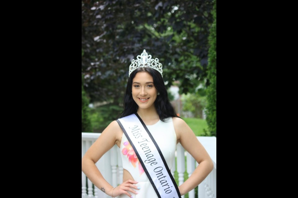 Bradford student Jaclyn Bowdery, winner of the Miss Teenager Ontario beauty pageant for 2021.