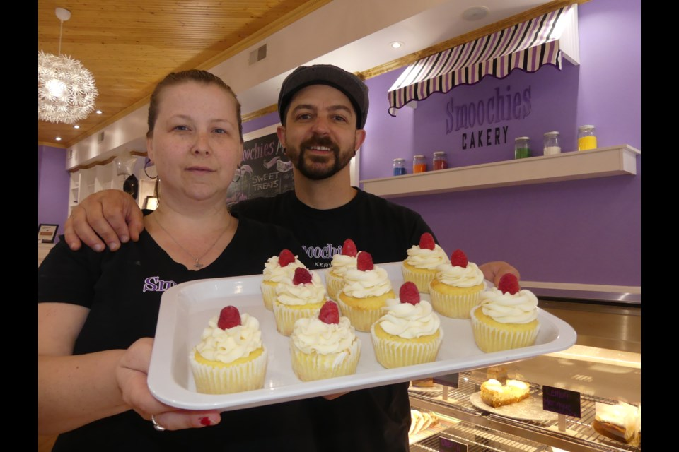 Melinda Coady and John Da Silva own Smoochies Cakery in Bradford West Gwillimbury. Jenni Dunning/BradfordToday